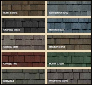 Asphalt Shingle Roof Colours